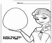 frozen movie olaf paint easter egg design colouring page coloring