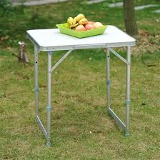 Folding Table With Handle Convenience Boutique Aluminum Camping Folding Camp Table With