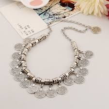 silver plated collar necklace images Bohemian ethnic tassel collar necklace silver plated turkish jpg