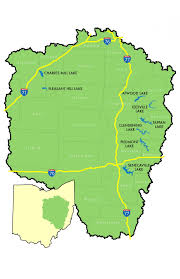 Where Is Ohio On The Map by Ohio Lakes Camping Water Conservation Muskingum Watershed