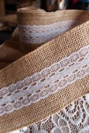 burlap and lace ribbon ribbon