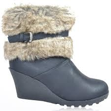 womens fur boots uk cheap black wedge fur boots find black wedge fur boots deals on