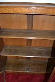 antique curio cabinet china cabinet bookcase solid oak circa