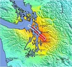 Earthquake Map Seattle by Shakemapgeologicsummaries