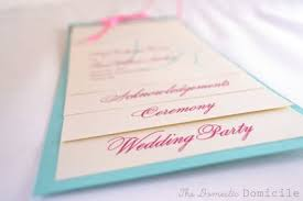 layered wedding programs ten best diy programs for weddings something borrowed wedding diy