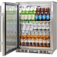 glass door bar fridge rhino triple glazed glass 1 door commercial alfresco stainless