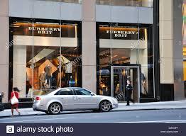 burberry designer fashion store new york usa stock photo