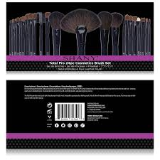 amazon com shany studio quality natural cosmetic brush set with