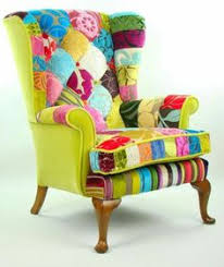 Patchwork Upholstered Furniture - folk project features chairs using mexican textiles and huipil