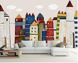 compare prices on castle wall mural online shopping buy low price 3d wall murals wallpaper hand painted cartoon castle custom 3d mural wallpaper tv backdrop sofa