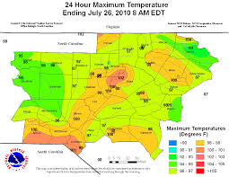 United States Temp Map by July 23 25 2010 Heat Wave Event