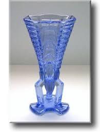 Colored Crystal Vases Art Deco Blue Glass U0027rocket U0027 Vase Czech C 1930s Glass In All