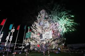texas motor speedway gift of lights tms annual christmas tree lighting and fireworks show set