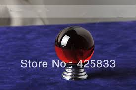 K Red Crystal Pulls Dresser Handles Drawer Pulls Kitchen Cabinet - Red kitchen cabinet knobs