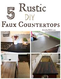 diy painted rustic kitchen cabinets 5 rustic diy faux countertops