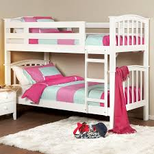 bedroom captivating pink sheet white wooden bunk bed and white
