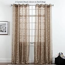 corfu greek key sheer grommet curtain panels