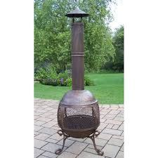 Cooking On A Chiminea Camber Steel Wood Burning Chiminea U0026 Reviews Birch Lane
