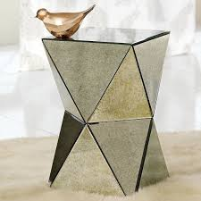 cube mirror side table mirror design ideas contemporary faceted mirror side table side end