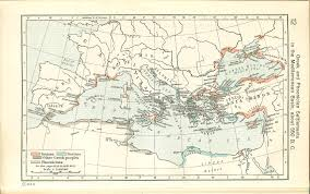 Map Of The Mediterranean Greek And Phoenician In The Mediterranean Basin About 550 B C
