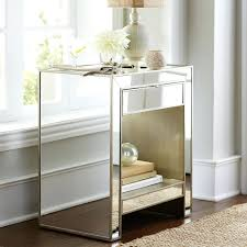 mirrored bedside table with drawers side tables mirrored bedside