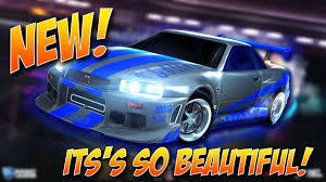 cars nissan skyline nissan skyline gt r r34 in rocket league new battle car youtube