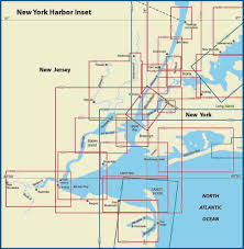 Map Of New York Harbor by Themapstore New York Harbor