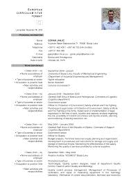 Type Resume Online by European Format Resume Free Resume Example And Writing Download
