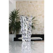 Rock Vases Nachtmann Sculpture 13 In Crystal Decorative Round Vase 90054