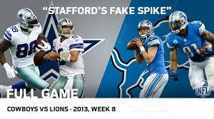 stafford s spike calvin s 329 yard cowboys vs lions