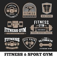 fitness logos collection vector free download