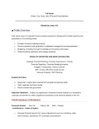 Hr Analyst Resume Sample Resume Sample Of Finance Analyst