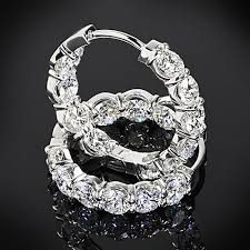 inside out diamond hoop earrings agbf inside out diamond hoop earrings 2809