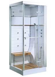 cabine de avec siège intégré cabine de osaka avec porte pivotante blanc homebain