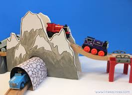 Making Wooden Toy Train Tracks by Make Your Own Train Tunnel And Mountain Lines Across