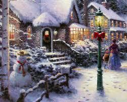 thomas kinkade halloween vintage christmas village scenes u2013 happy holidays