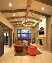 cb2 flex sofa with exposed beams living room mediterranean and san