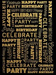 gold backdrop custom celebrate happy birthday party backdrop gold and black