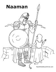 naaman coloring page teach kids about christ