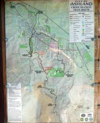 Bear Creek Trail Map City Of Ashland U2013 Creek To Crest Trail Route Map Ashland Daily