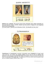 ancient egypt gods u0026 pharaohs basic worksheet free esl