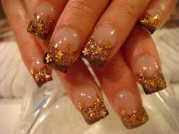 gold acrylic nails designs nail simple design ideas nails