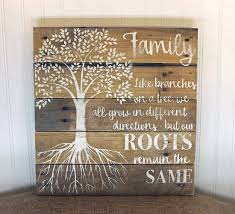 16x17 family reclaimed pallet wall sign for home décor white