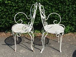Vintage Metal Patio Furniture For Sale - bench antique wrought iron garden bench garden furniture silver