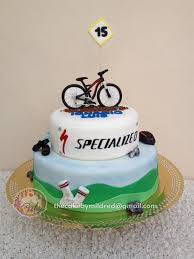 bicycle cake topper i made this 2 tiered cake for my godson he is a mountain bike fan