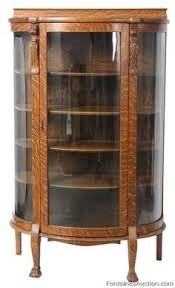 how much is my china cabinet worth price my item value of american victorian carved oak curved glass
