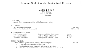 Sample Resume For College Students With No Job Experience by Resume Templates For College Students With No Experience