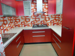 Modern Wood Kitchen Cabinets Kitchen Ideas U Shaped Red Gray Modern Wood Kitchen Cabinet With