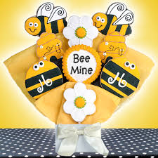 Cookie Bouquets Bee Mine Personalized Cookie Bouquet Aa Gifts U0026 Baskets