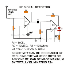 the simple circuit design of a non contact ac voltage detector
